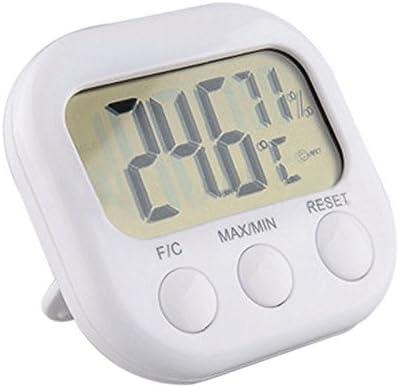5Five LCD /Électronique Digital Thermom/ètre Int/érieur Hygrom/ètre Temp/érature Humidit/é Compteur