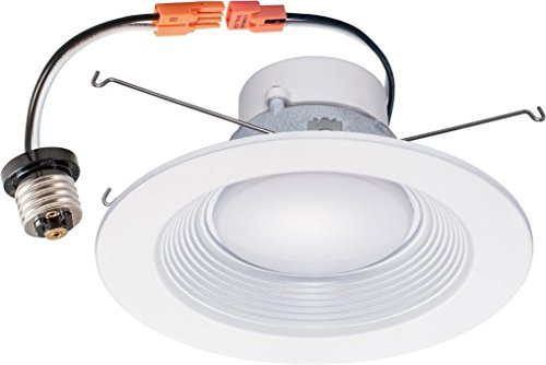 Trims Inch 5 White ((4-Pack) YiLighting 16W (120W Equivalent), 5-6 inch Dimmable Retrofit LED Recessed Lighting Downlight Fixture Trim (Wet Location), ENERGY STAR, UL-Classified, CRI>90, Cool White(4000K))