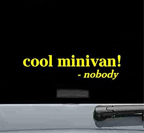JS Artworks Cool Minivan Said Nobody Vinyl Decal Sticker (Yellow)