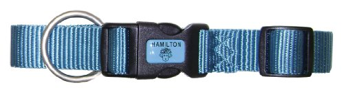 Hamilton Adjustable Dog Collar, 5/8-Inch, Ocean Blue, My Pet Supplies