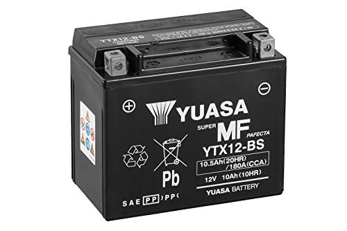 Yuasa YTX12-BS MF Moto batterij