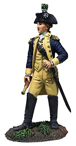 (W. Britain's Toy Soldiers Museum Collection 10062 Marquis De Layfayette 1783 1:30 Scale Pewter)