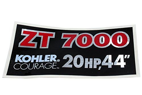 Briggs & Stratton 1727858SM DECAL-ZT 7000 KOHLER by Briggs & Stratton