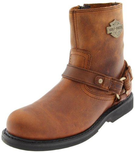 Harley-Davidson Men's Scout Harness Motorcycle Boot, Brown, 12 M US
