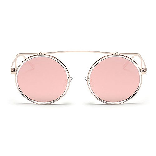 Retro C7 Redonda Color de Señora de UV Estilo Gu Conducción Libre Lente Viajar Ojos de Gafas Forma Protección Gato C7 Peggy al Aire Sol Color xqFA4w