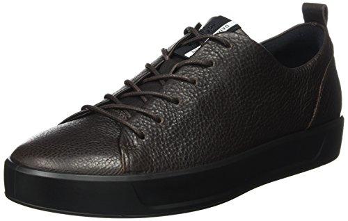 Ecco Uomo Soft 8 Tie Fashion Sneaker Caffè / Nero