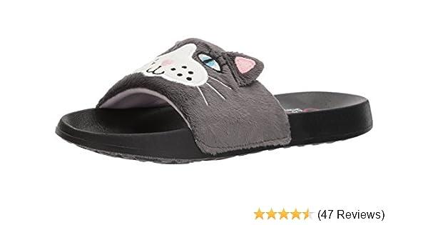 b2bd138f8e59 Amazon.com  Skechers BOBS Women s 2nd Take-Plush Animal Slide Sandal  Shoes