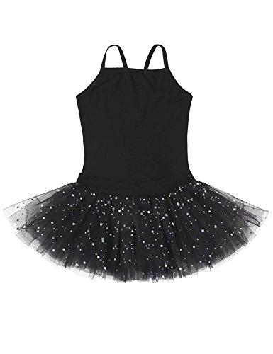 Ephex Toddler Girls Ballet Leotard Dance Tutu Dress Sleeveless Skirt, Black  2-4 Years ()