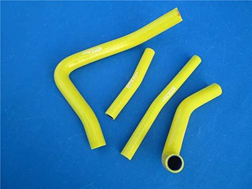For 1999 2000 SUZUKI RM 250 RM250 Coolant Silicone Radiator Hose Kit Yellow