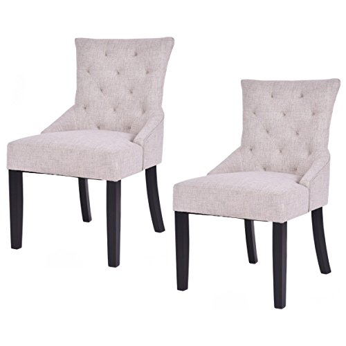 Giantex Dining Chairs Armless Upholstered