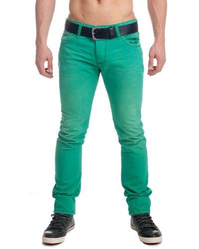 Redbridge by cipo baxx jean pour homme &tubes pantalon 8675 r-191 taille w28–taille 34 (vert)