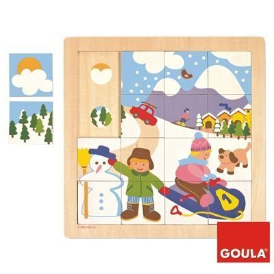 Puzzle 16 pieces - Winter by Goula
