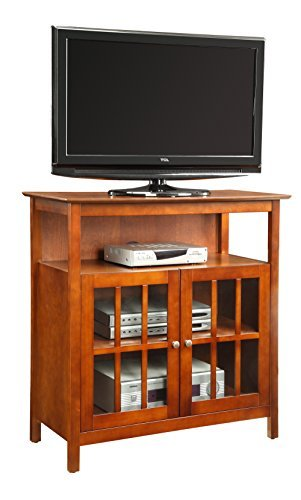 Chairside Cabinet (Convenience Concepts Designs2Go Contemporary Big Sur Highboy TV Stand, Cherry)