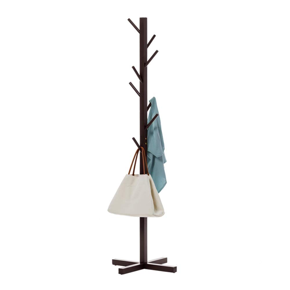 A Nevy Brands Free Standing Bamboo Tree-Shaped Display Coat Stand with 8 Hooks and Solid Feet for Multiple colors to Choose from (color   B)