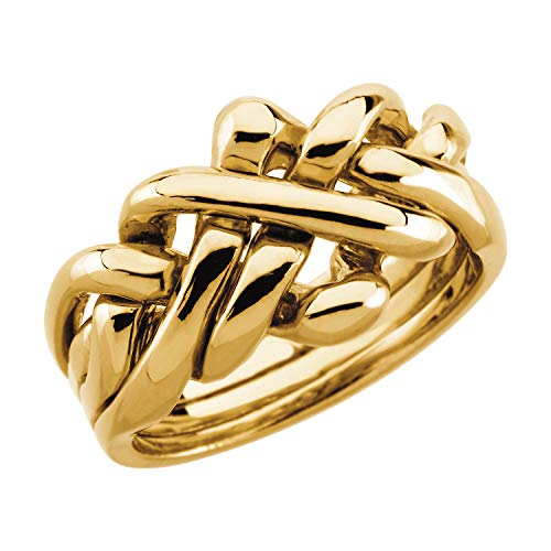 Mr.Piercing 14K Yellow Gold Ladies Puzzle Ring