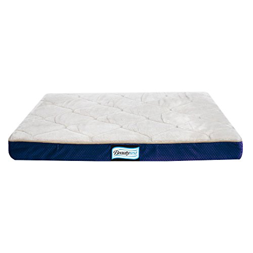 Simmons Beautyrest Thera Bed Orthopedic Memory Foam Dog Bed and Kennel / Crate Mat - Orthopedic Dog Bed 18x24