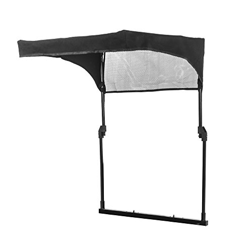 Craftsman Universal Sun Shade Lawn Mower Canopy-Steel Frame-Collapsible-Tool Free Installment, Black