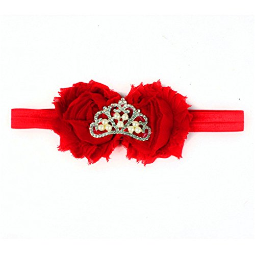 HANYI Baby Girls Crown Headbands Photography Headband Accessories (Red) ()