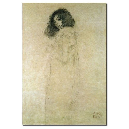Portrait of a Young Woman, 1896-97 by Gustav Klimt, 30x47-Inch Canvas Wall Art - 1896 Canvas
