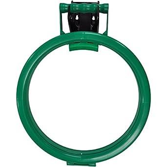 Hillbrush Commercial HH3G - Aro para bolsas de polipropileno con soporte de pared de 120 mm, color verde