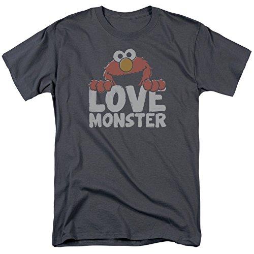 Sesame Street- Elmo Love Monster T-Shirt Size L (T-shirt Elmo Street Loves Sesame)