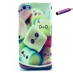 WQQ Funda con Soporte/Carcasas de Cuerpo Completo/Caso resistente a los golpes/Funda Impermeable - Diseño Especial - para iPhone 5C ( Multicolor ,Cuero