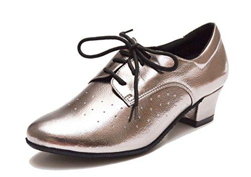 MGM-Joymod - De Salón de Piel Vuelta Mujer Grey/4cm Heel