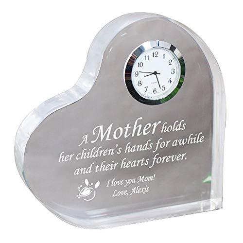GiftsForYouNow Personalized Mother Keepsake Clock, 5 x 5 , Acrylic