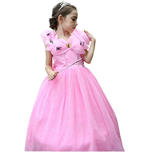 Girls Princess Aurora Costume Dress Up For Halloween Christmas Party