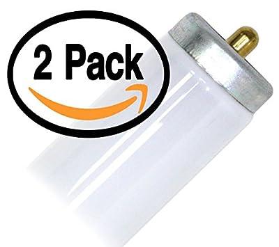 (2 Pack) GE F42T12/CW Single Pin 36 Watt T12 Fluorescent Tube Light Bulb 36W F42T12 Fa8 Base - 4100K (alt F42T12/CW/IS F42T12/WW F42T12/D )