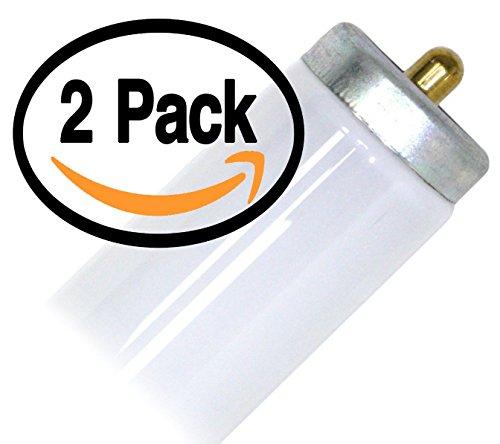 (2 Pack) GE 15116 F48T12/SPX35 Single Pin 40 Watt Flourescent Tube Light Bulb 40W F48T12 3500K alt to F48T12/D35 F48T12/SPX30 F48T12/SP35/WM F48T12/SP30/WM F48T12/SP41 F48T12/CW
