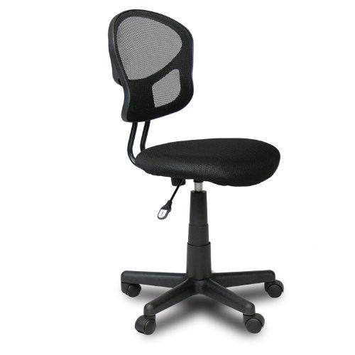 Furinno WA-3055-4 Hidup Mesh Mid-Back Ergonomic Office Chair, Black