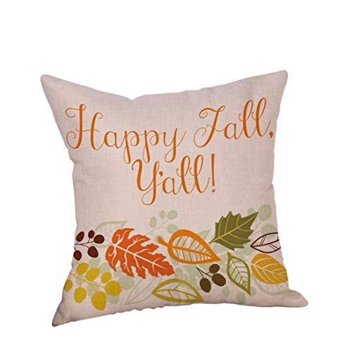 GREFER New Pillowcases Pillow Cases Linen Sofa Cushion Cover Home Decor Happy Halloween Thanksgiving Christmas (H)]()