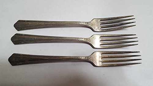(3 WM. A ROGERS A1 Plus Silverplate Dinner Forks Set of 3)