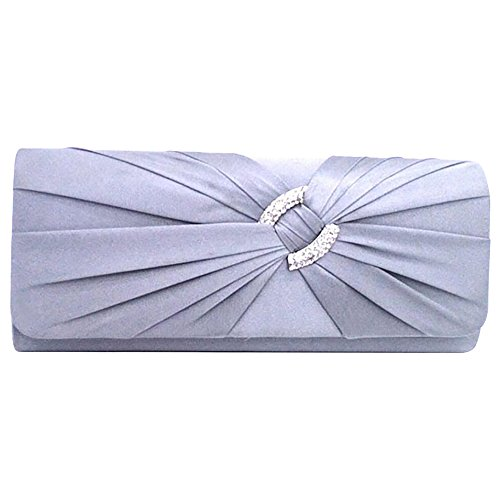 pink Purse Handbag Pleats hot Satin Party Prom Bag Wiwsi Diamante Women Elegant Bridal Clutch xtqwtHOY68