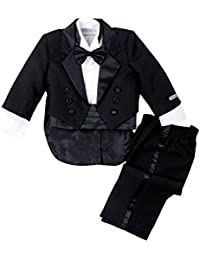 Baby Boys' Black Classic Tuxedo with Tail