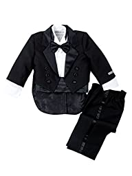 Spring Notion Baby Boys\' Black Classic Tuxedo with Tail Large /12-18 Months