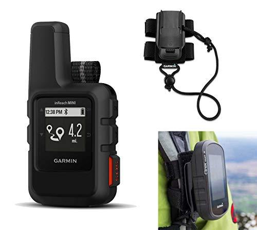 Garmin inReach Mini (Gray) Satellite Communicator Bundle with Hiking Backpack Tether | Belt, Carabiner Clip | Hiking GPS, Small, Rugged, Waterproof, GEOS Emergency Response