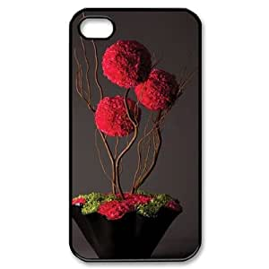 red floral DIY Phone Case for iPhone 4,4S LMc-32231 at LaiMc