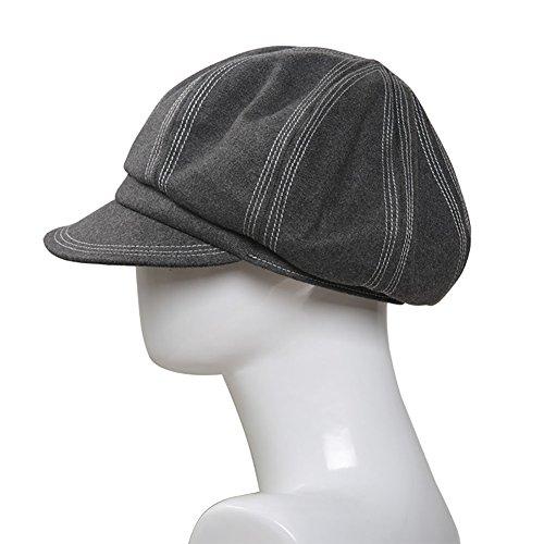暖かい女性のキャップ帽子のベルベットバイザーベレキャップの帽子