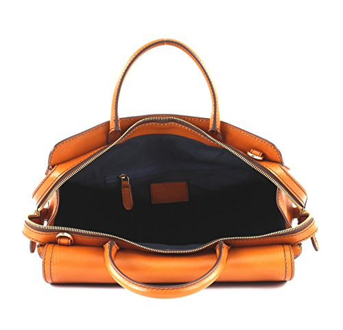 36 Pearldistrict à Bridge Sac cuir The cm Marron main x7qaYnw5wZ