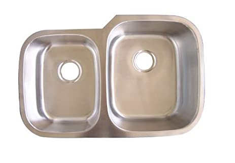Medallion 40/60 Offset Stainless Steel Undermount Sink