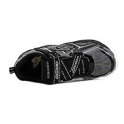 Skechers Electronz Boys\' Toddler-Youth Sneaker 1 M US Little Kid Black-Silver