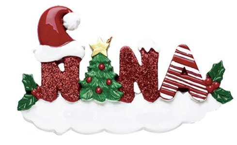 Nana Word Personalized Christmas Tree Ornament