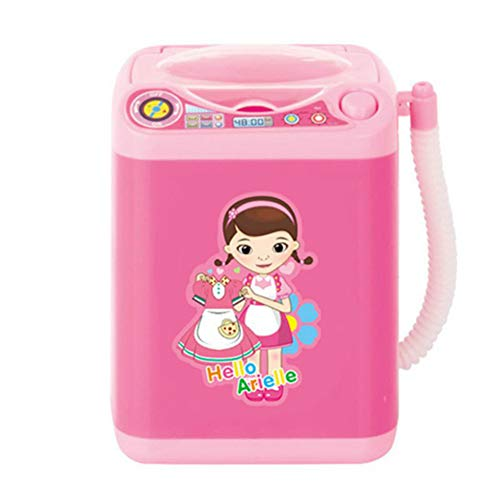 Makeup Brush Cleaner Device Automatic Cleaning Washing Machine Mini Toy (Pink)
