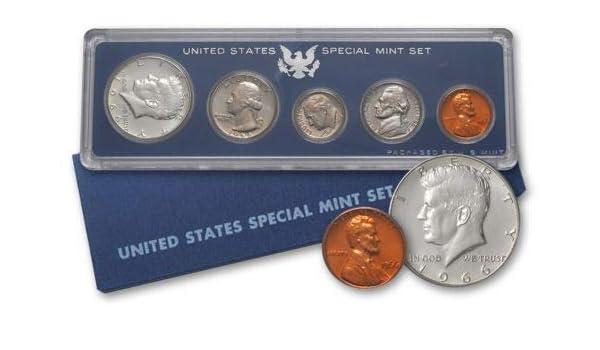 1986 US Mint Proof Set 5 Gem Coins w// Box /& COA