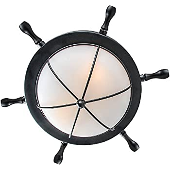 LNC A03196 1 Nautical Ceiling Lights Flush Mounts Black