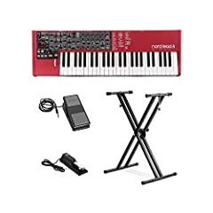 This Bundle Includes: (1)Nord Electro 6 HP 73-Note Hammer-Action Portable Keyboard (1)On-Stage KEP100 Keyboard Expression Pedal (1)On-Stage KSP100 Universal Sustain Keyboard Pedal (1)Front Row KS-01 Double X Keyboard Stand (1)Boss BDC-01 Micr...