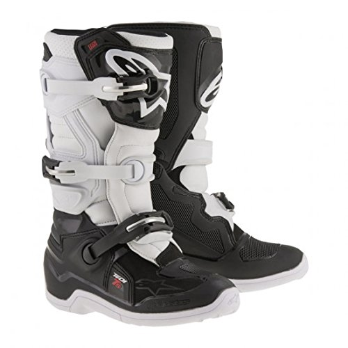 Alpinestars Tech 7S Youth Motocross Boots - Black/White - Youth 3 ()