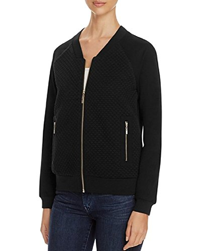 Quilted Knit Bomber Jacket - 4